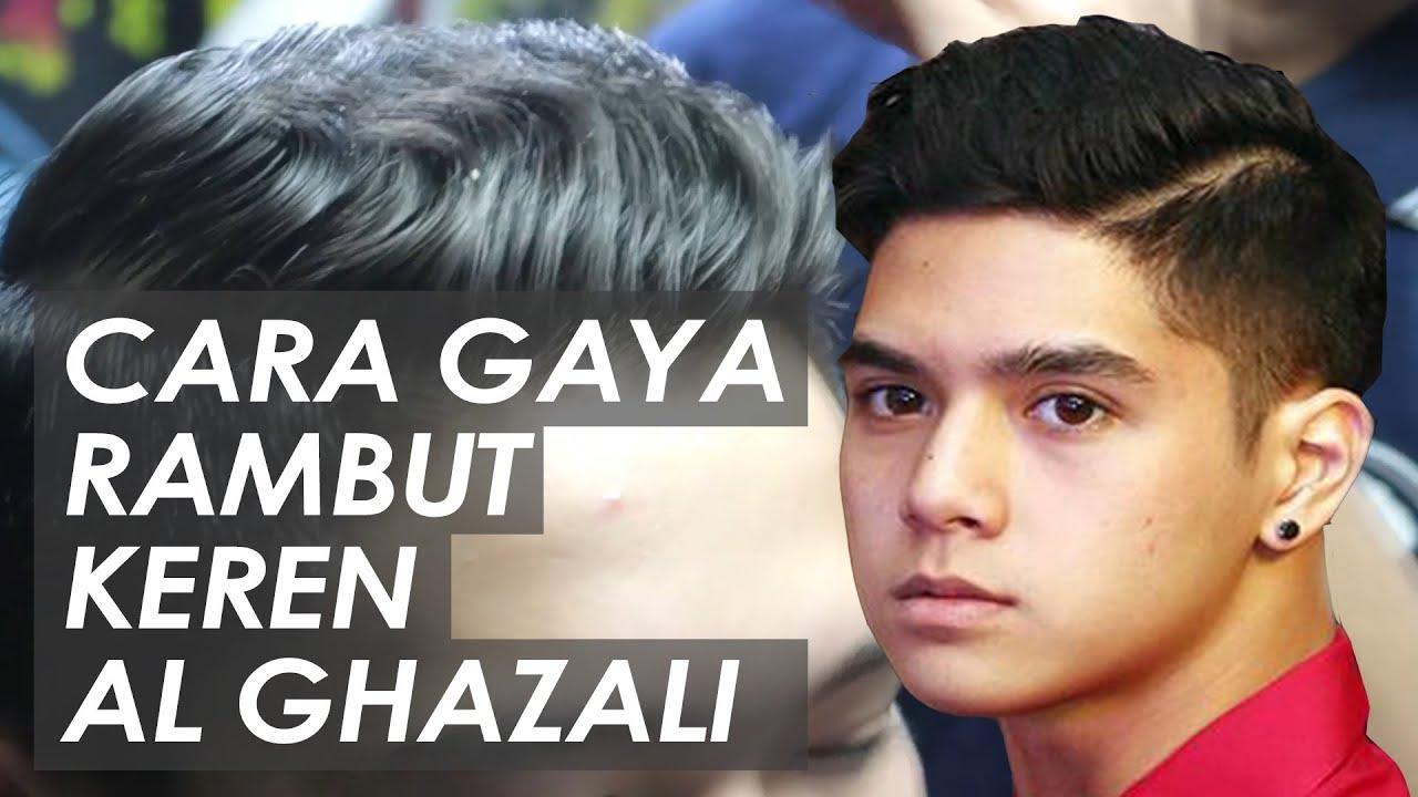 Gaya Rambut Artis Indonesia 2017 Al Ghazali Inspired Hairstyle Youtube