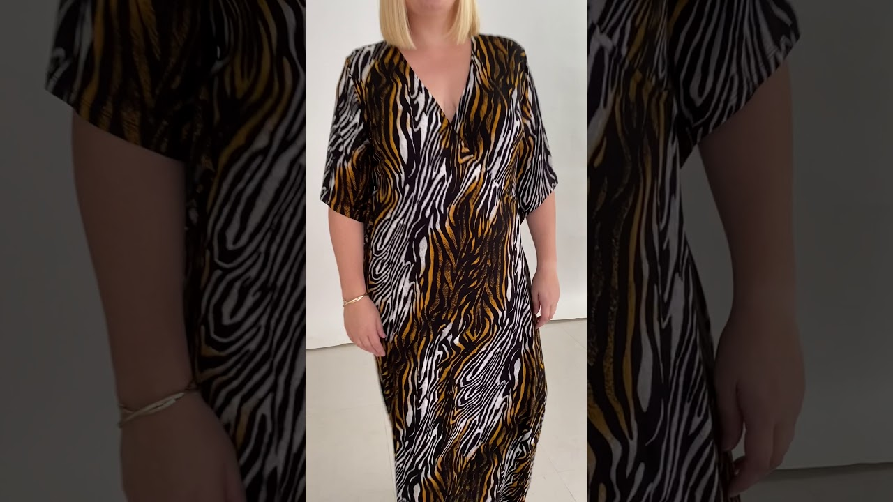 Jersey Animal Print Wrap Dress (CH5294B)
