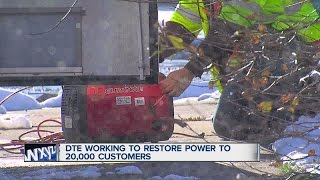 DTE working to repair thousands of outages around Metro Detroit