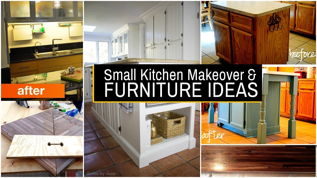 20 Small Kitchen Makeover and Furniture ideas - YouTube