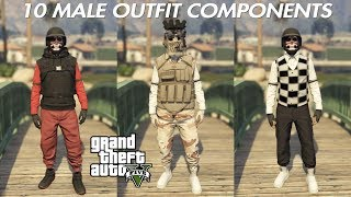 (OUTDATED MERGING COMPONENTS)GTA 5 ONLINE 10 MALE OUTFIT COMPONENTS