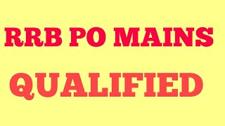 QUALIFIED! IBPS RRB PO MAINS Result| IBPS RRB PO MAINS Result Declared |IBPS RRB PO Cutoff Statewise