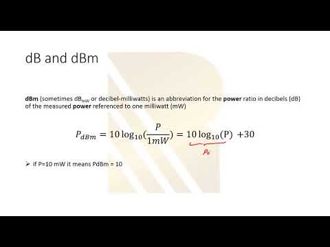 what is dB dBm in radio frequency? what is dbm in electronics? decibel in electrical engineering. #7