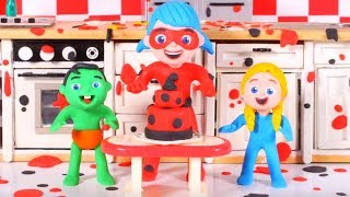 Ladybug Cooking In A Messy Kitchen ❤ Cartoons For Kids