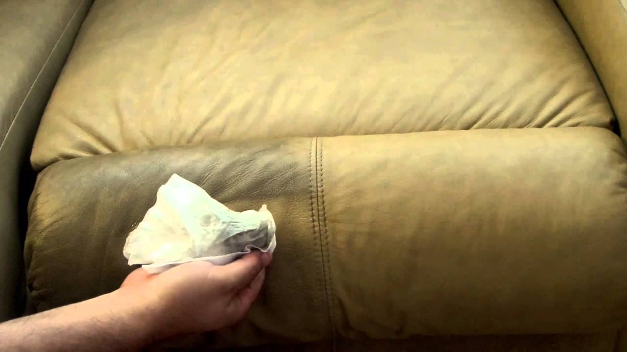 can you clean white leather sofas single seat sofa bed how to easily your couch for pennies youtube