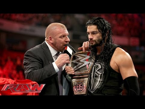 Thumbnail: COO Triple H asks Roman Reigns to 'sell out': Raw, November 9, 2015