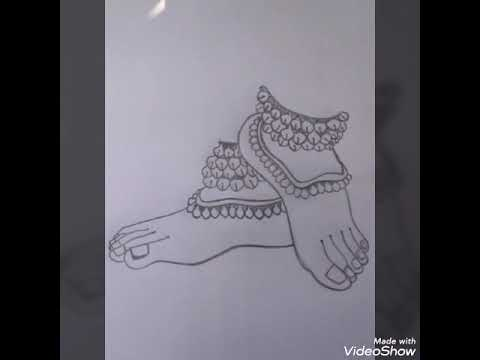 Classical Dance Dance Step Indian Dancer Feet Barathanatyam Pencil Drawing Easy To Draw Youtube