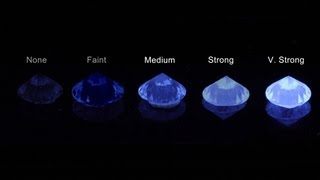 How does fluorescence affect the look of a diamond?