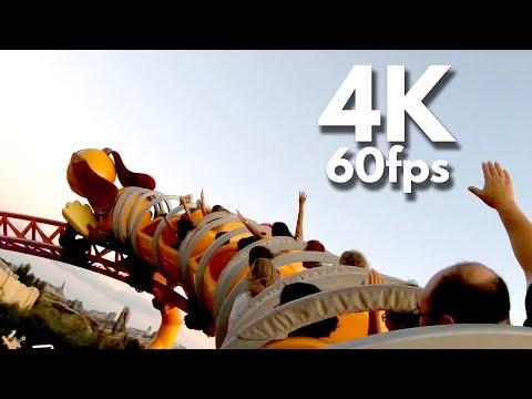 Slinky Dog Dash Roller Coaster On Ride 4K POV Toy Story Land Disney's Hollywood Studios Back Row