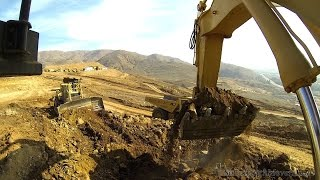 Onboard the CAT 5130B excavator