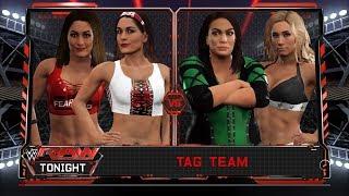 WWE 2K17 - The Bella Twins VS Nia Jax and Carmella
