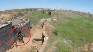 Ukrainian Drone Buzzes Low Over Proxy Trenches, Records Russian Mine Launchers
