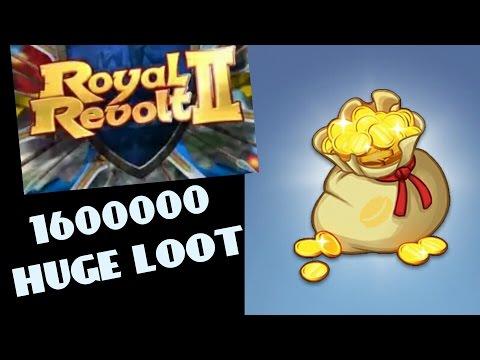 ROYAL REVOLT 2 - 1,650,000 GOLD IN ONE RAID !