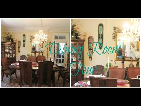 Dining Room Tour African Inspired! Historic home