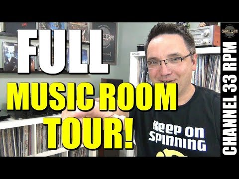 THE NEW MUSIC ROOM TOUR! Including my turntable stereo setup | Vinyl Community