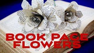 Wie man Papier-Blumen aus Buchseiten