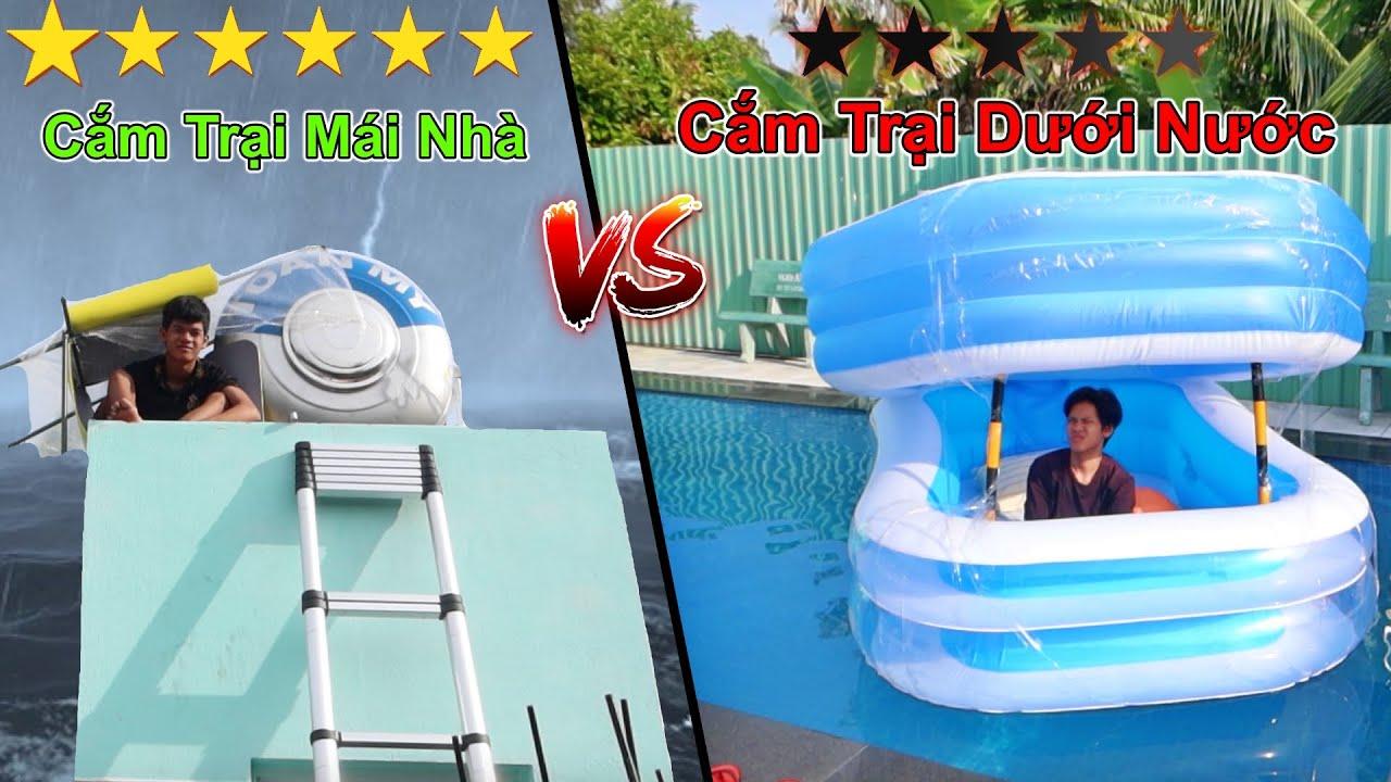 Thử Thách Cắm Trại BBQ Trong Sân Vườn 0 Sao vs 6 Sao | Cắm Trại Dưới Nước vs Cắm Trại Trên Mái Nhà