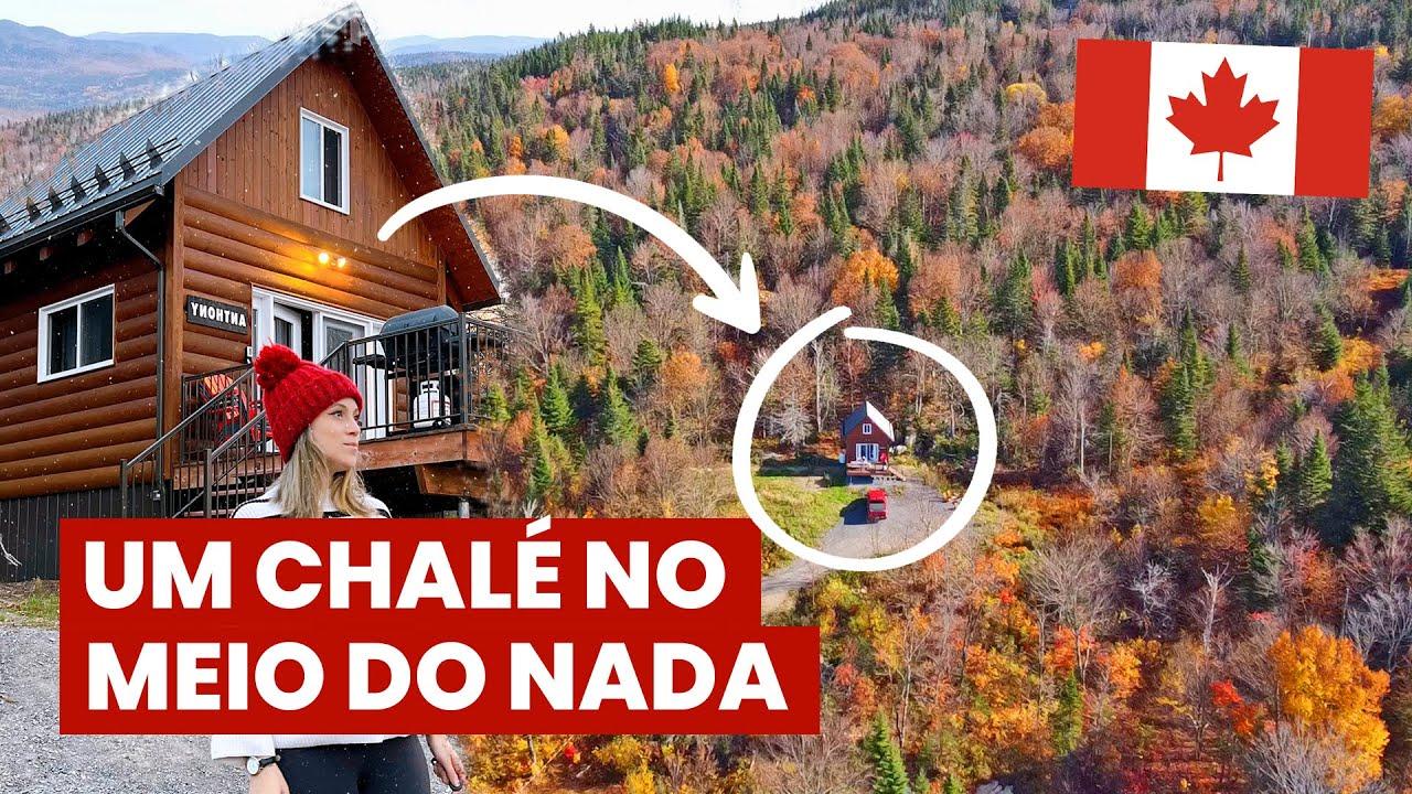 CHALÉ no CANADÁ: viagem de aniversário, AIRBNB, natureza e drone novo. 🇨🇦Explorando o QUEBEC!