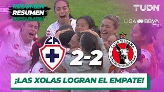 Resumen y Goles | Cruz Azul 2 - 2 Tijuana | Liga MX Femenil - J19 - AP 2019 | TUDN
