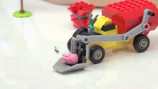 Building With Kyle - Invisible Boatmobile Rescue by Mega Bloks SpongeBob