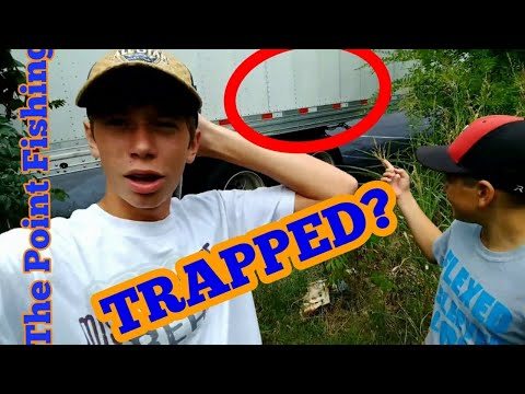 TRAPPED WHILE FISHING! (end) extreme urban creek fishing. (all the rest)
