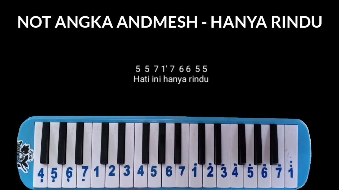 Not Pianika Andmesh Hanya Rindu Youtube