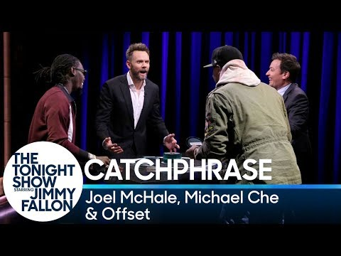 Catchphrase with Joel McHale, Michael Che and Offset
