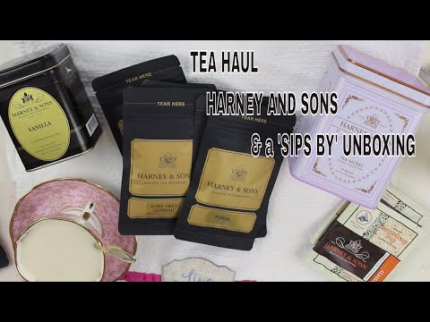 SIPS BY UNBOXING AND HARNEY AND SONS TEA HAUL