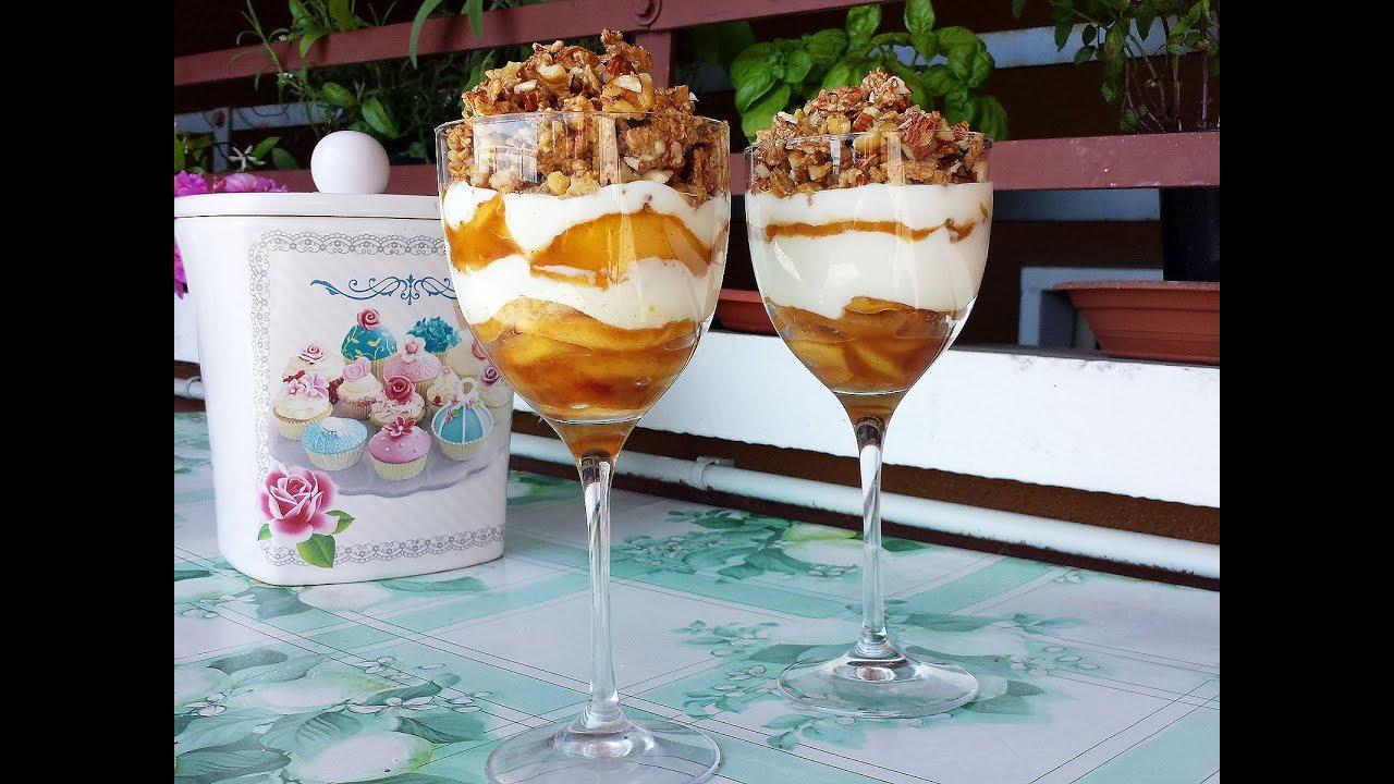 Dessert allo yogurt e mele saltate le video ricette di for Ricette dessert