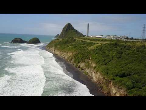 New Zealand -  Back Beach in New Plymouth