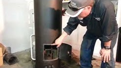 Waste Oil Heater made from electric water heater