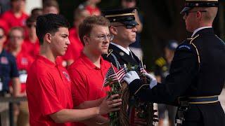 2021 American Legion Boys Nation delegates visit Arlington National Cemetery