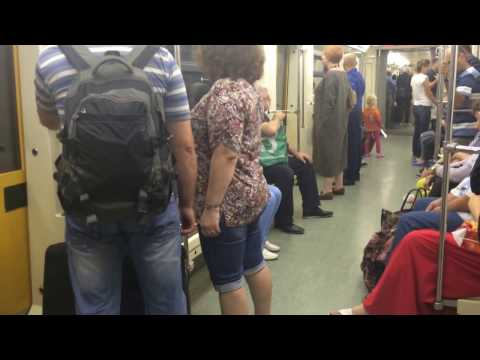 Moscow subway trip. No surprises. Just a real ride with real people in real time.