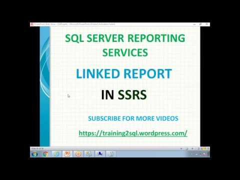 26 SSRS LINKED REPORTS - YouTube