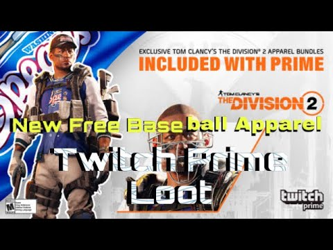 The Division 2 | NEW FREE Baseball Apparel | Twitch Prime Loot | |