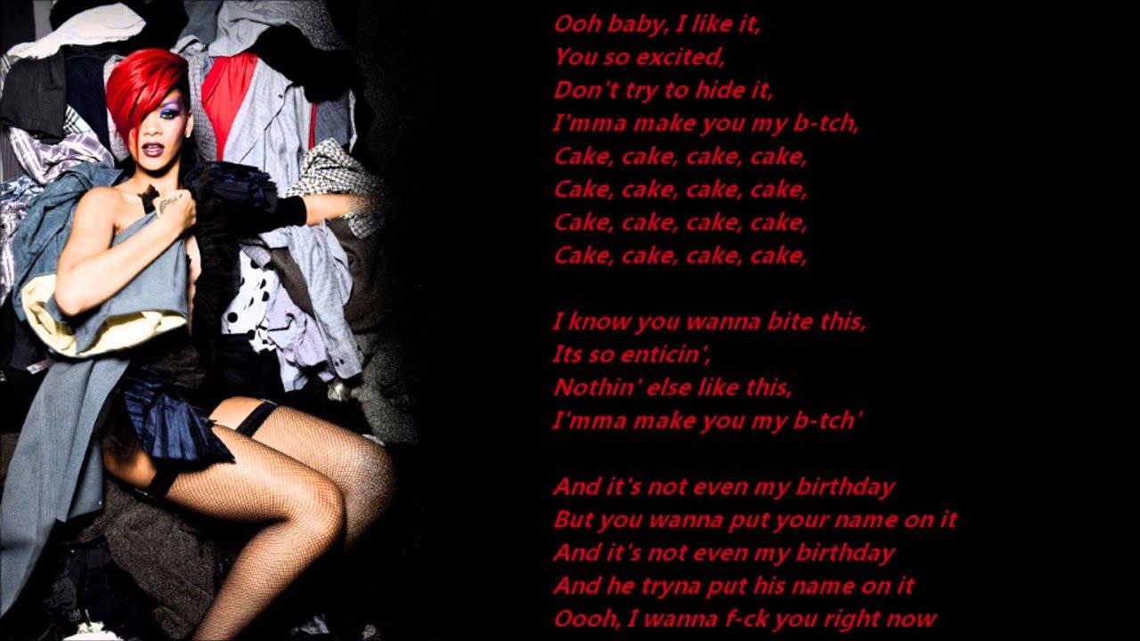 Rihanna Birthday Cake Lyrics On A Screen - YouTube