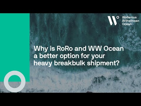 Why is RoRo and WW Ocean a better option for your heavy breakbulk shipment?