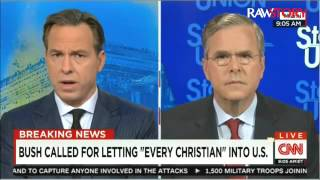 Jeb Bush: Respond to Paris attack by only accepting Christian refugees