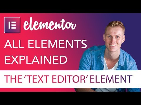text-editor-element-tutorial-|-elementor