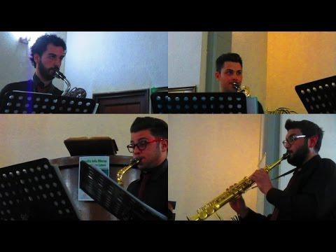 """Rossini """"La Gazza Ladra"""" """"Il Barbiere di Siviglia"""" """"Tarantella"""" … ♫ Trinacria Saxophone Quartet"""