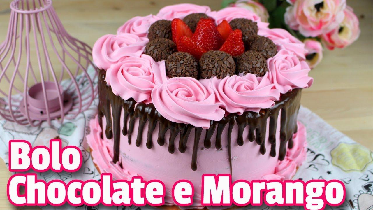 Bolo De Chocolate E Morango Como Fazer Bolo De Chocolate E