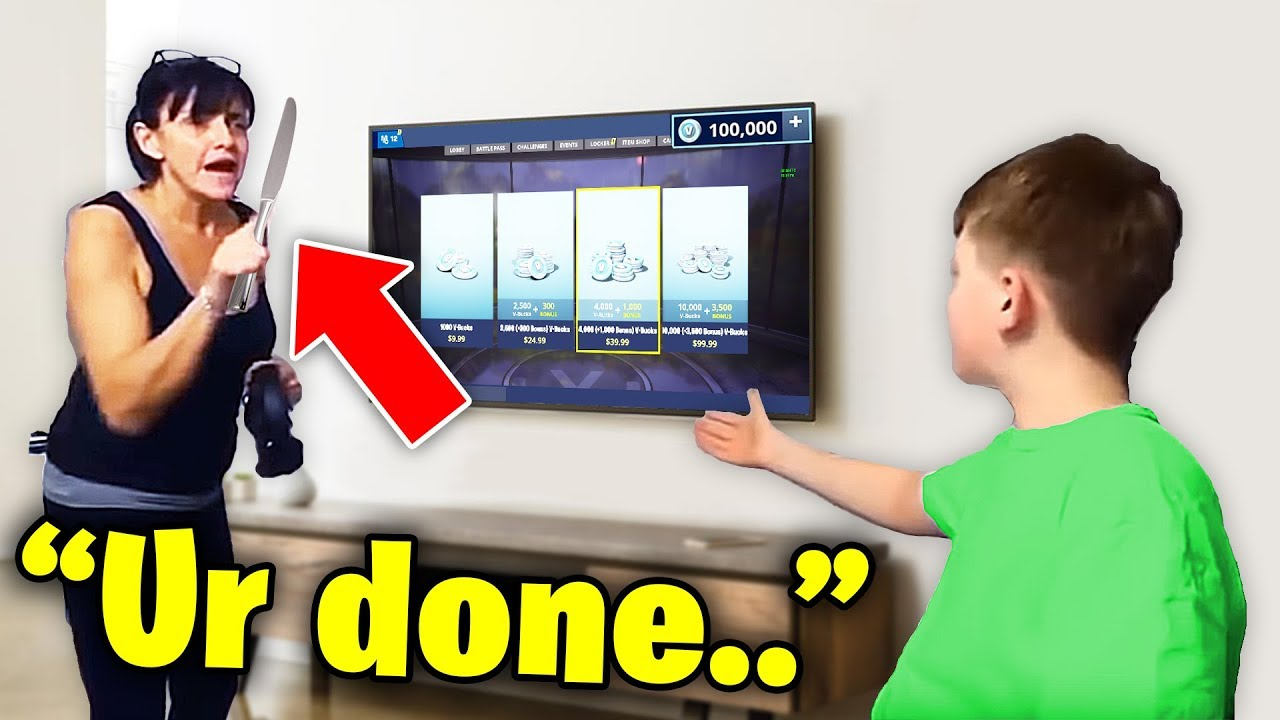 he STOLE his mom's credit card to buy $100,000 v-bucks.. (fortnite) HD (720p)