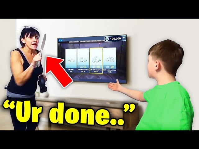 he STOLE his mom's credit card to buy $100,000 v-bucks.. (fortnite) Standard quality (480p)