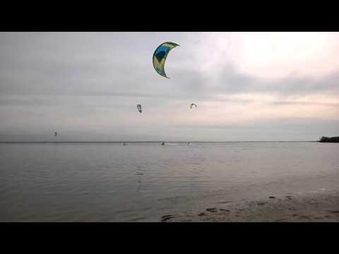 Jet ski kite boarding