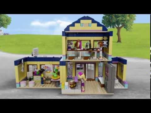 Lego Friends 41005 Heartlake High Lego 3d Review Youtube