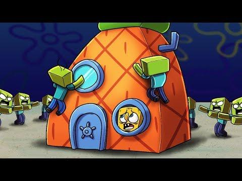 Minecraft - Spongebob Squarepants vs ZOMBIES! (Bikini Bottom in Minecraft)