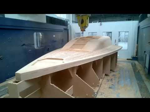 Marine boat deck model milling