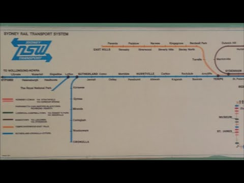 Paul's Train Vlog 142: Old Sydney Rail Transport System Map