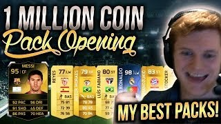 1,000,000 coin pack opening - my best ever pack opening - fifa 14