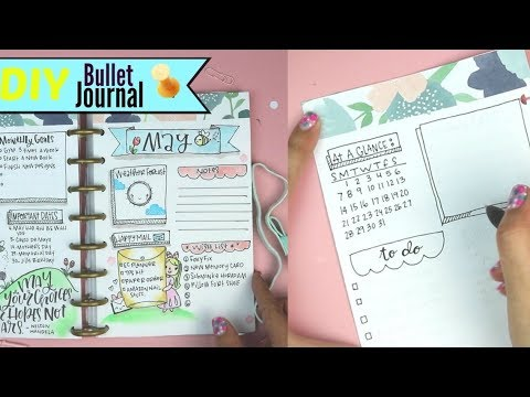 diy bullet journal how to make a planner youtube. Black Bedroom Furniture Sets. Home Design Ideas